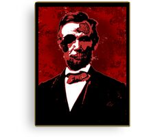 Zombie Lincoln Canvas Print