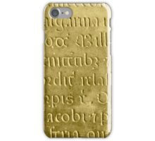 Old medieval latin stone iPhone Case/Skin
