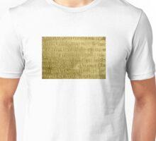 Old medieval latin stone Unisex T-Shirt