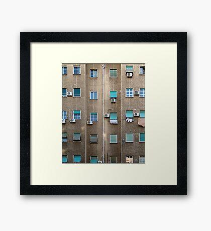 Broken grid Framed Print