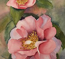 Camellias in Bloom by Susan Moss