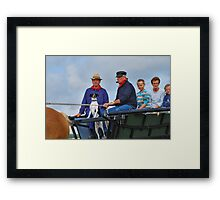 I may ride too....... Framed Print