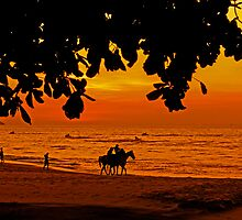 Golden Penang Sun Set by Graham Hooker