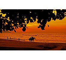 Golden Penang Sun Set Photographic Print