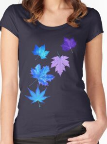 Nature - Inverted Leaf Women's Fitted Scoop T-Shirt