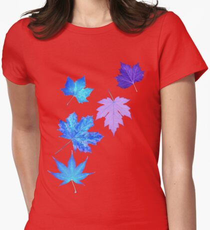 Nature - Inverted Leaf Womens Fitted T-Shirt