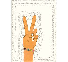 Peace and Love Photographic Print