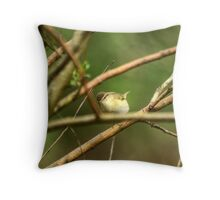 Willow Warbler Throw Pillow