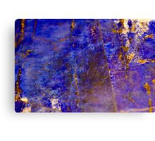 Blue marble - patterned texture background  Canvas Print