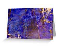 Blue marble - patterned texture background  Greeting Card