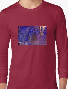 Blue marble - patterned texture background  Long Sleeve T-Shirt