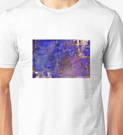 Blue marble - patterned texture background  Unisex T-Shirt