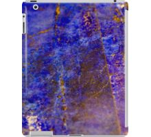 Blue marble - patterned texture background  iPad Case/Skin