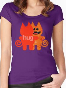 KAT HUG Women's Fitted Scoop T-Shirt