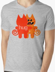 KAT HUG Mens V-Neck T-Shirt