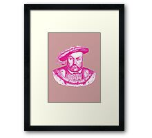 Pink Henry the Eighth VIII Framed Print