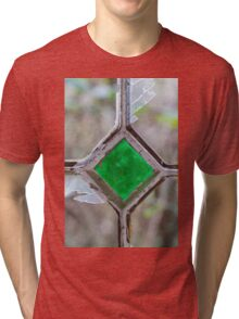 Old window with broken glass Tri-blend T-Shirt