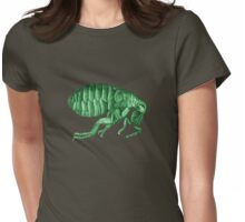 Friendly Green Flea Tee Womens Fitted T-Shirt