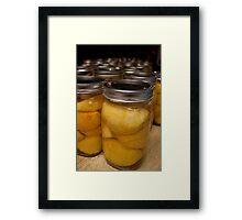 Farmhouse Canned Peaches Framed Print