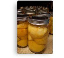 Farmhouse Canned Peaches Canvas Print