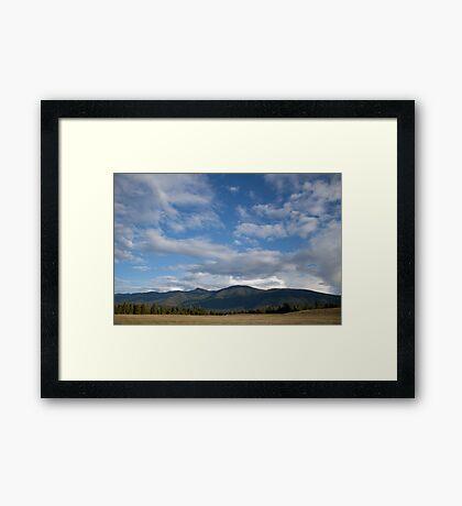 Farm Sky Framed Print