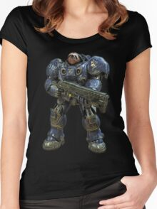 Sloth space commando Women's Fitted Scoop T-Shirt