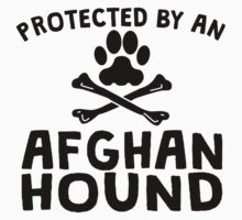 Protected By An Afghan Hound Kids Clothes