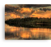 Sunset Reflections - Narrabeen Lakes ,Sydney Australia - The HDR Experience Canvas Print