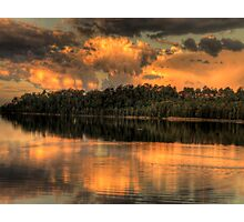 Sunset Reflections - Narrabeen Lakes ,Sydney Australia - The HDR Experience Photographic Print