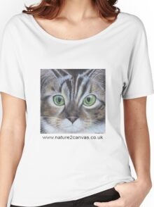 Cat's face close up on a t-shirt Women's Relaxed Fit T-Shirt