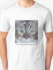 Cat's face close up on a t-shirt T-Shirt