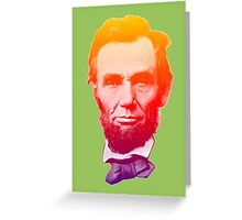 Big psychedelic Abe  Greeting Card