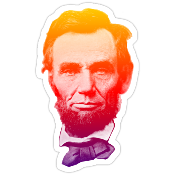 Big psychedelic Abe  by adrienne75
