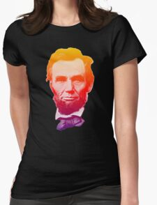 Big psychedelic Abe  Womens Fitted T-Shirt