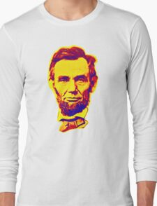 Bright Face Abraham Lincoln  Long Sleeve T-Shirt
