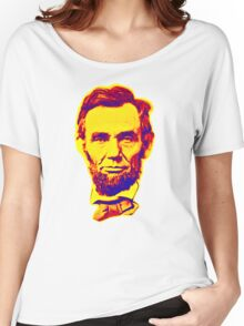 Bright Face Abraham Lincoln  Women's Relaxed Fit T-Shirt