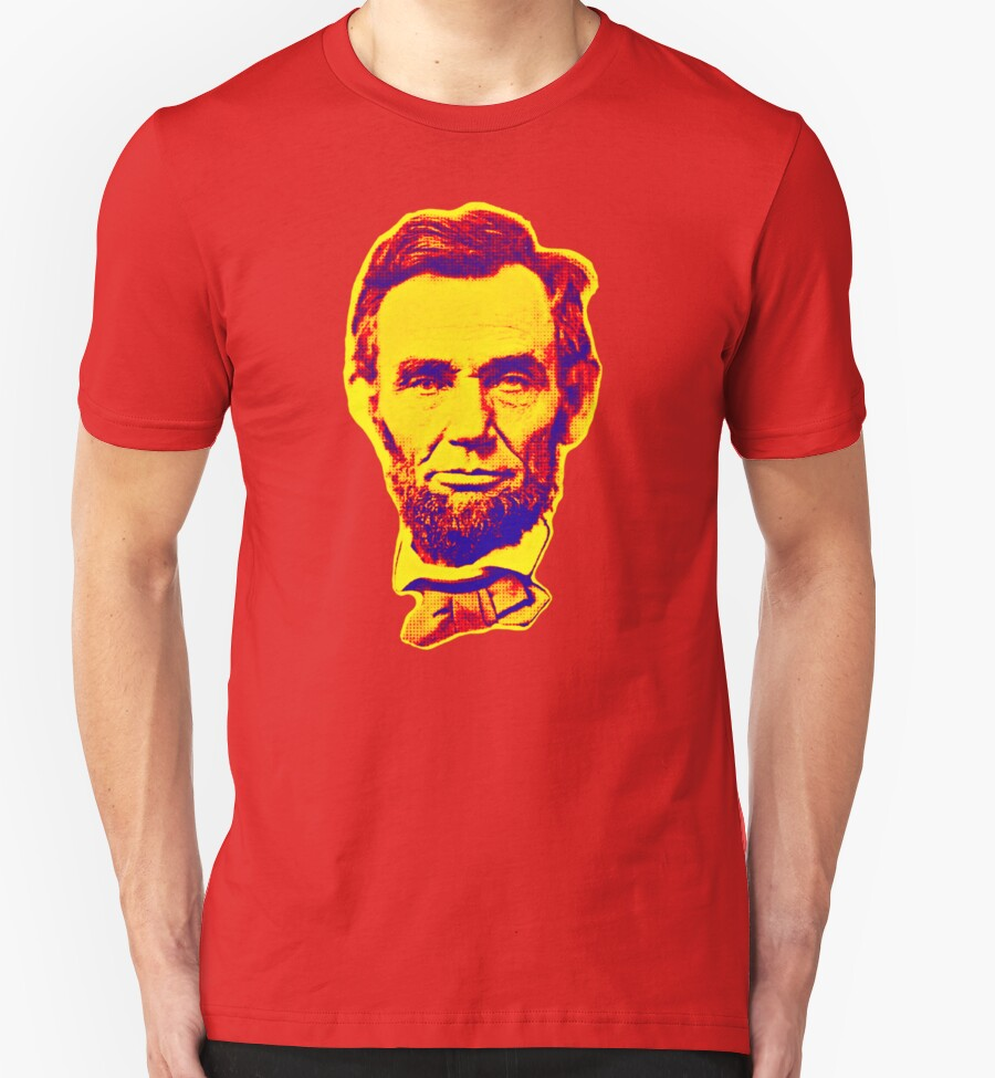 Bright face abraham lincoln t shirts hoodies by for T shirt printing lincoln