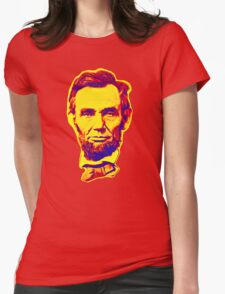 Bright Face Abraham Lincoln  Womens Fitted T-Shirt