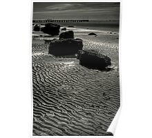 Sculpture in rock and sand Poster