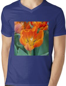 tulip in the garden Mens V-Neck T-Shirt
