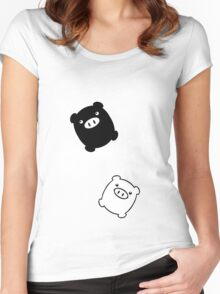 TWIN PIGS FLYING Women's Fitted Scoop T-Shirt