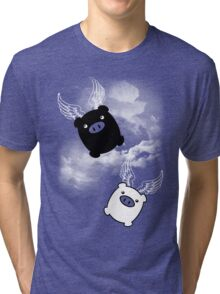 TWIN PIGS FLYING Tri-blend T-Shirt