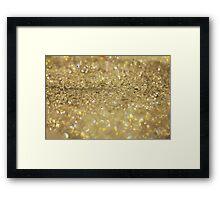 Golden bokeh lights at Milan Fashion Week Framed Print