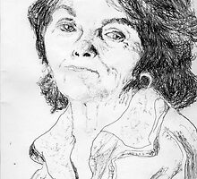 Paula Rego on YouTube -(260711)- Biro pen/black ink  by paulramnora