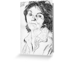 Paula Rego on YouTube -(260711)- Biro pen/black ink  Greeting Card