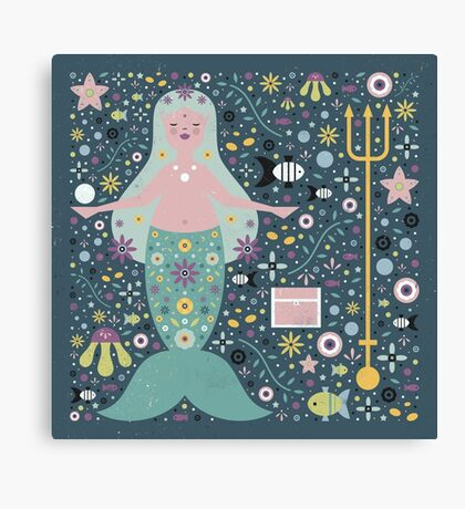Mermaid in the Depths Canvas Print