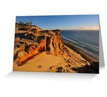 Carlo Sandblow at sunrise. Rainbow Beach, Queensland, Australia Greeting Card
