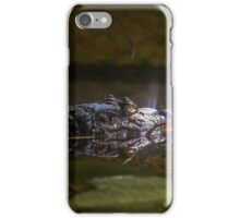 caiman crocodile in the water iPhone Case/Skin