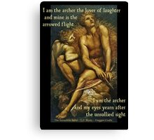 I Am The Archer - Artemis and Hyperion Canvas Print