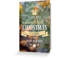 Wonderful Wish Christmas Card Greeting Card